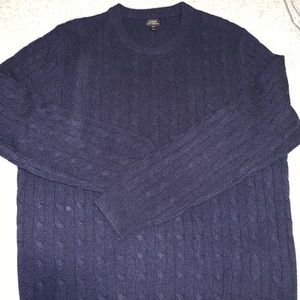 J Crew 100% cashmere cable knit sweater